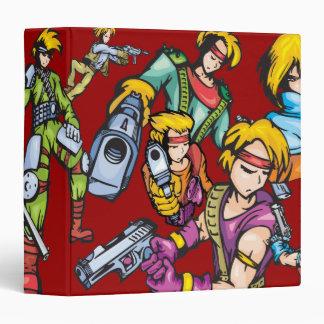"""Cuaderno cinco de los combatientes del animado carpeta 1 1/2"""""""