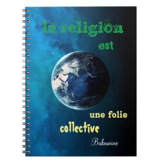 cuaderno cita anti religión