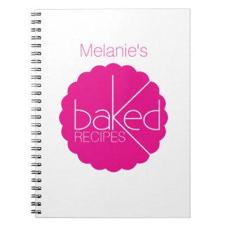 Cuaderno cocido de los cocineros de las recetas