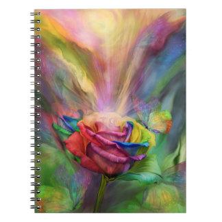 Cuaderno color de rosa curativo