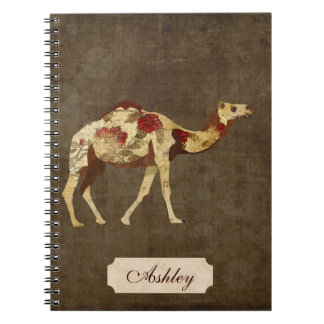 Cuaderno color de rosa del camello