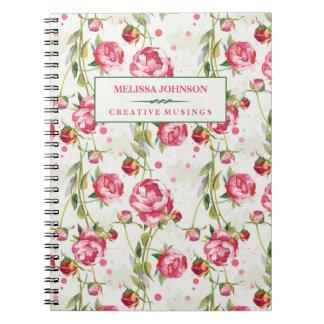 Cuaderno color de rosa hermoso