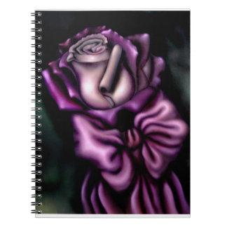 Cuaderno color de rosa púrpura