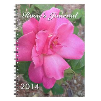 Cuaderno color de rosa rosado hermoso