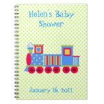 Cuaderno colorido de la fiesta de bienvenida al be