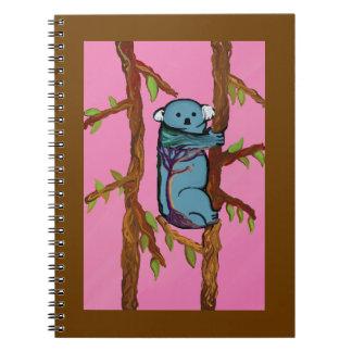 Cuaderno colorido de la koala