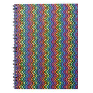 Cuaderno colorido de las curvas