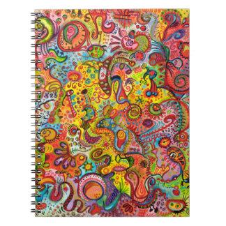 Cuaderno colorido del arte abstracto