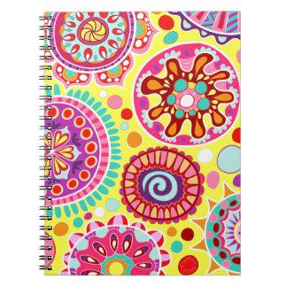 ¡Cuaderno colorido del arte abstracto - psicodélic Libro De Apuntes