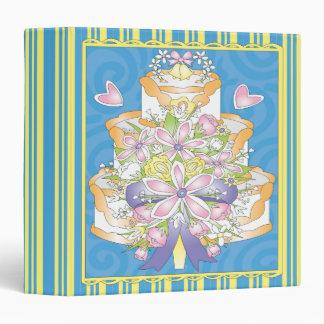 cuaderno colorido del pastel de bodas