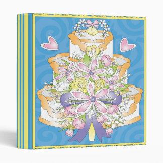"""cuaderno colorido del pastel de bodas carpeta 1"""""""