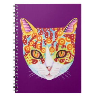 Cuaderno colorido lindo del gato