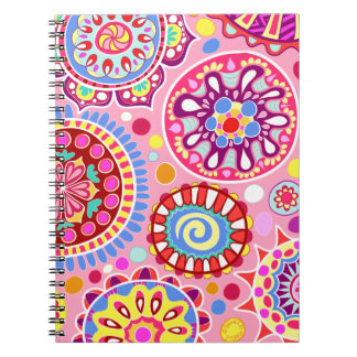 ¡Cuaderno colorido rosado del arte abstracto - psi
