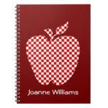 Cuaderno comprobado rojo de Apple del profesor