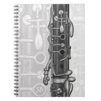 Cuaderno común superior del monograma del Clarinet