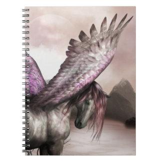 Cuaderno con alas de Pegaso