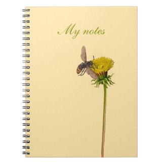 Cuaderno con diseño floral - diente de león y