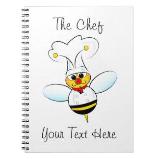 Cuaderno con el cocinero de la abeja