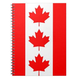 Cuaderno con la bandera de Canadá