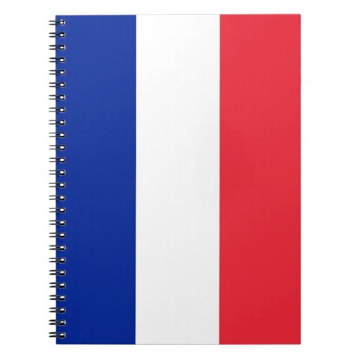 Cuaderno con la bandera de Francia