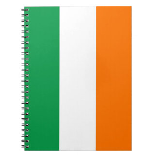 Cuaderno con la bandera de Irlanda