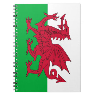 Cuaderno con la bandera de País de Gales