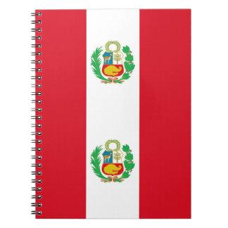Cuaderno con la bandera de Perú