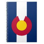 Cuaderno con la bandera del estado de Colorado