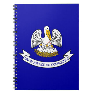Cuaderno con la bandera del estado de Luisiana