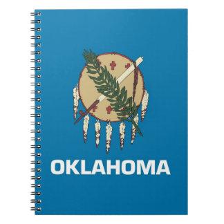 Cuaderno con la bandera del estado de Oklahoma