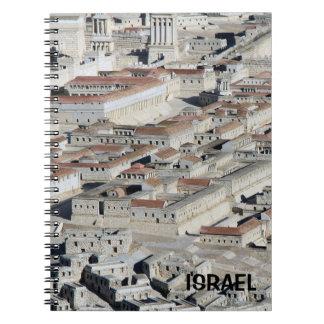 Cuaderno con la reproducción de Jerusalén de Israe