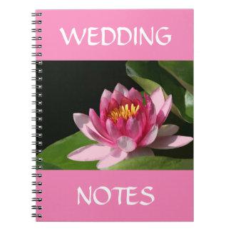 Cuaderno con Waterlily rosado