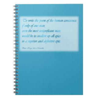 Cuaderno: Conciencia humana Libro De Apuntes Con Espiral