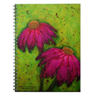 cuaderno 'Coneflowers púrpura espiral