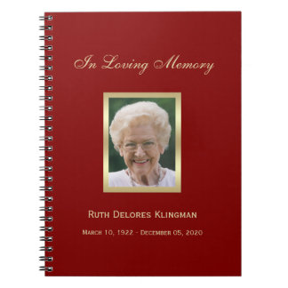 Cuaderno conmemorativo o fúnebre del libro de visi