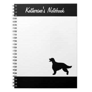 Cuaderno conocido de encargo del perro de Irish Se