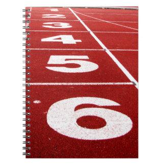 Cuaderno corriente de la pista