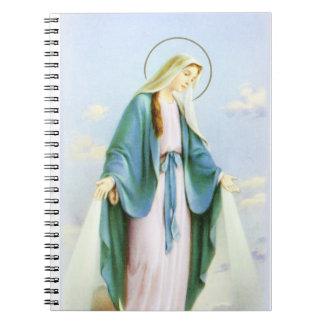 Cuaderno creciente de la luna del Virgen María