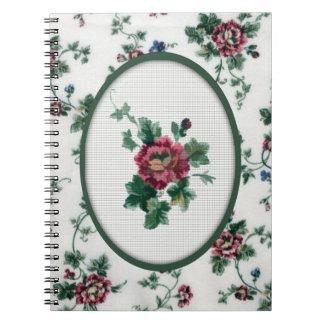 Cuaderno cruzado color de rosa de la puntada