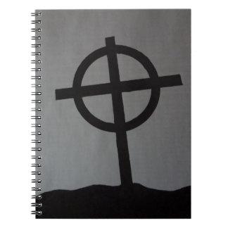 Cuaderno cruzado de la lápida mortuaria