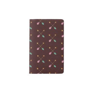 Cuaderno cruzado de las flechas funda para libreta y libreta pequeña moleskine