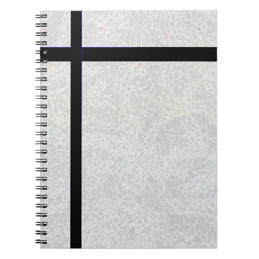 """Cuaderno """"cruzado"""" negro"""