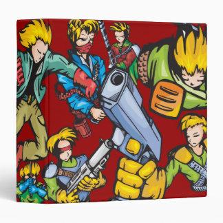 """Cuaderno cuatro de los combatientes del animado carpeta 1 1/2"""""""
