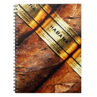 Cuaderno cubano de Habana de los cigarros