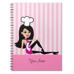 Cuaderno culinario con el dibujo animado retro
