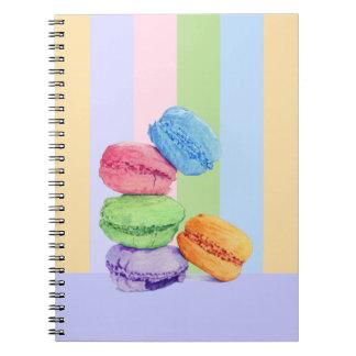 Cuaderno de 5 rayas de Macarons