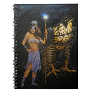 Cuaderno de acrílico de la pintura de la diosa
