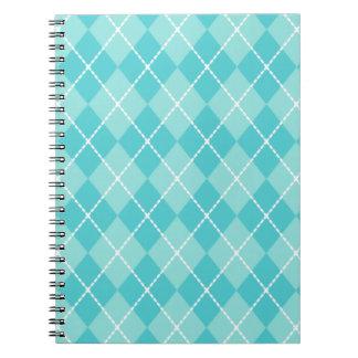 Cuaderno de Argyle de la aguamarina