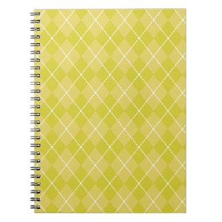 Cuaderno de Argyle del verde amarillo