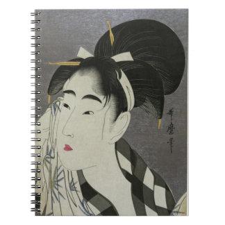 Cuaderno de Ase O Fuku Onna de Kitagawa Utamaro